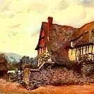 Beautiful Britain - Farmhouse, Pershore, Worcestershire 1906 by Dennis Melling