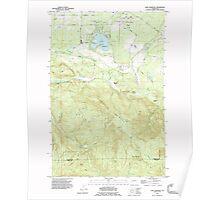 USGS Topo Map Washington State WA Lake Lawrence 241881 1990 24000 Poster