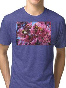 Pink Spring Crabapple Blossoms Tri-blend T-Shirt