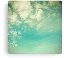 Vinatge - Retro Blue Sky Canvas Print