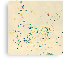 All the magic between you and me ( many colour balloons flying in a retro sky) Canvas Print