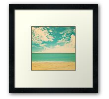 Retro Beach Framed Print