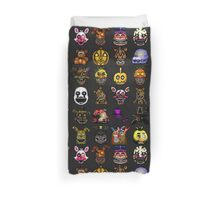 Multiple characters (New set) - Five Nights at Freddy's - Pixel art  Duvet Cover