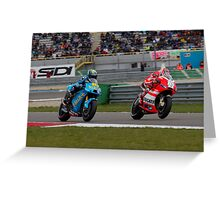 Alvaro Bautista and Nicky Hayden at Assen 2011 Greeting Card