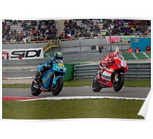 Alvaro Bautista and Nicky Hayden at Assen 2011 Poster