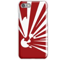 Explosive White on Red iPhone Case/Skin