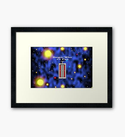 # 1 Doctor Who Fan Framed Print