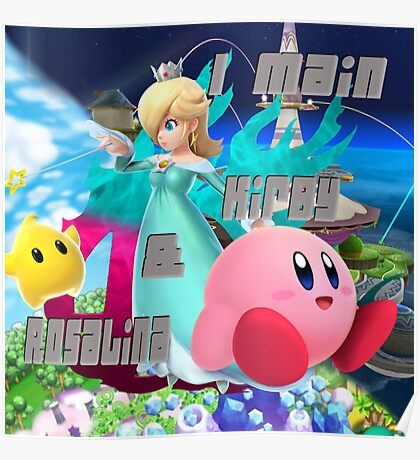 I MAIN KIRBY AND ROSALINA Poster