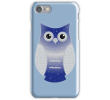 Dark Blue Snow Owl iPhone Case/Skin