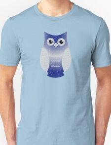 Dark Blue Snow Owl Unisex T-Shirt