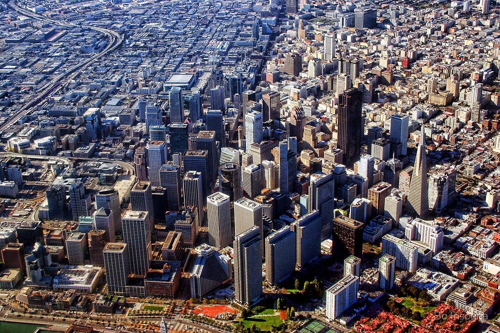 San Francisco Aerial View PLANET eARTh by Bo Insogna