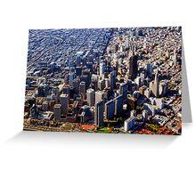 San Francisco Aerial View PLANET eARTh Greeting Card