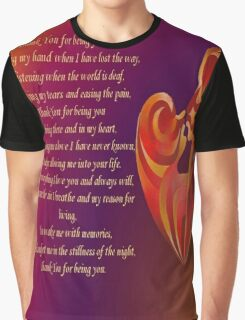 Thank You for Being You Poetry Greeting Card Graphic T-Shirt