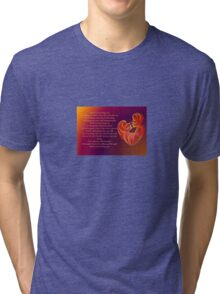 Thank You for Being You Poetry Greeting Card Tri-blend T-Shirt
