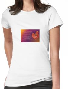 Thank You for Being You Poetry Greeting Card Womens Fitted T-Shirt