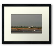 F/A 18 Taking Off with After Burners Framed Print