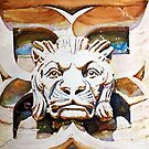 The Lion King - Watercolor of Canadian Parliament Building Carving by Christiane  Kingsley