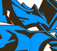 Style graffiti Blue Sticker
