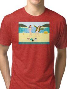 I Love You But Tri-blend T-Shirt