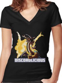 Discordlicious Women's Fitted V-Neck T-Shirt