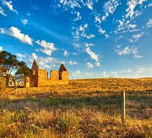Church Ruins - Brinkley, South Australia by Mark Richards