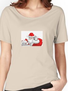 DJ Santa Claus Mixing The Christmas Party Track Women's Relaxed Fit T-Shirt