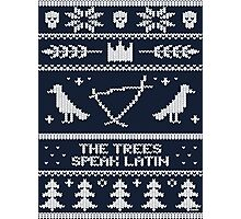 The (Holiday) Trees Speak Latin Photographic Print