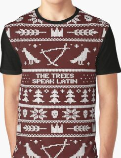 The (Holiday) Trees Speak Latin Graphic T-Shirt