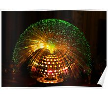 Green Fibre Optic Lamp Poster