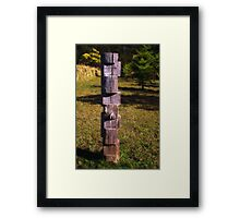 Aussie Totem Pole... Framed Print