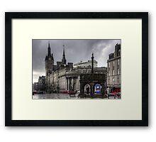 The Castlegate in the driving rain Framed Print