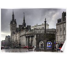 The Castlegate in the driving rain Poster