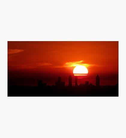Sundown Atlanta Skyline Photographic Print