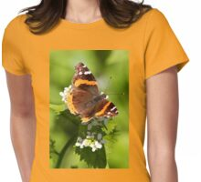 Red Admiral Butterfly Portrait Womens Fitted T-Shirt