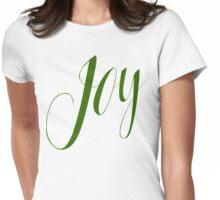 Joy Green Script Womens Fitted T-Shirt