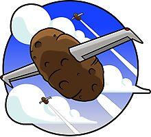 Flying Potato Photographic Print
