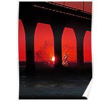 A Splash of Sunrise Poster