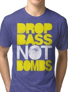 Drop Bass Not Bombs (Pt. II) [yellow] Tri-blend T-Shirt