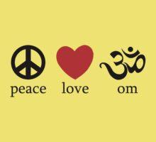 Peace Love Om Yoga T-Shirt Kids Clothes