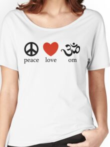 Peace Love Om Yoga T-Shirt Women's Relaxed Fit T-Shirt