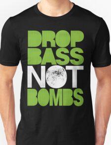 Drop Bass Not Bombs (Pt. II) [neon green] Unisex T-Shirt