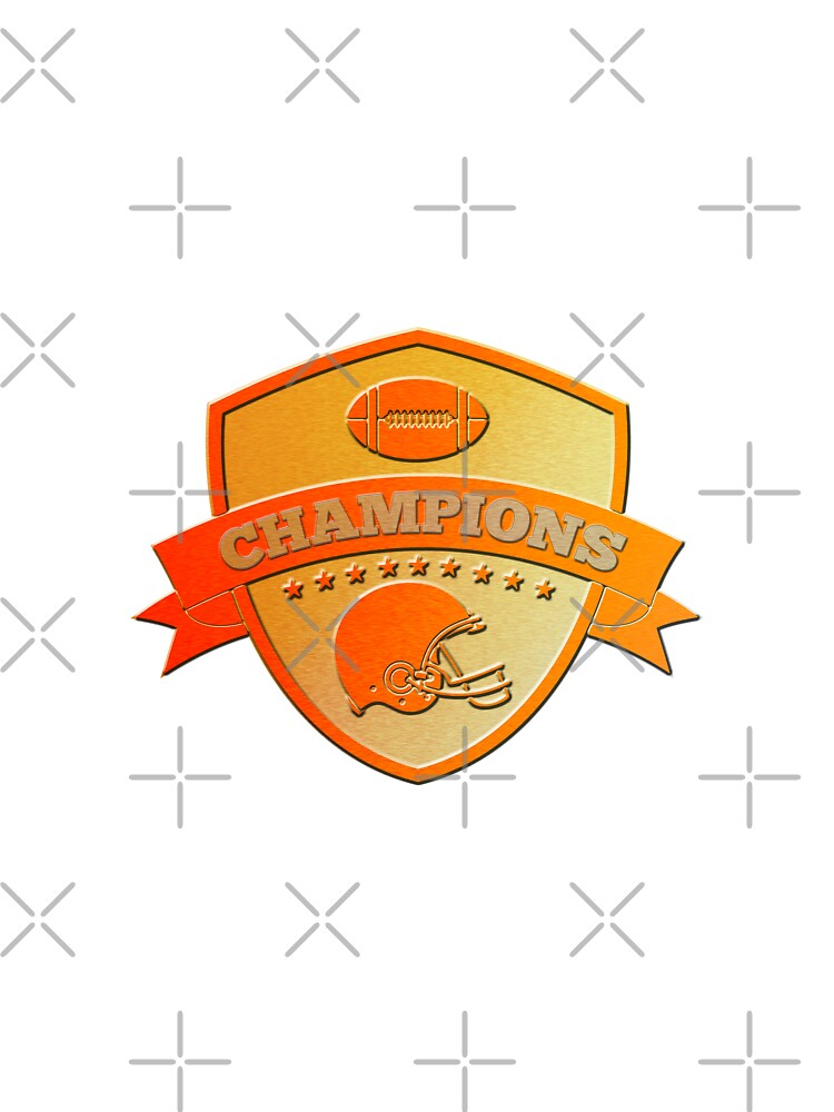 american football champions shield by patrimonio