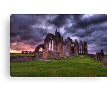 sunrise whitby abbey  Canvas Print