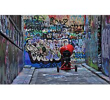 The Red Concrete Mixer Photographic Print