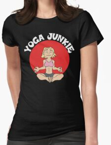 Funny Women's Yoga T-Shirt - Dark Womens Fitted T-Shirt