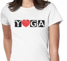 Love Yoga T-Shirt Womens Fitted T-Shirt