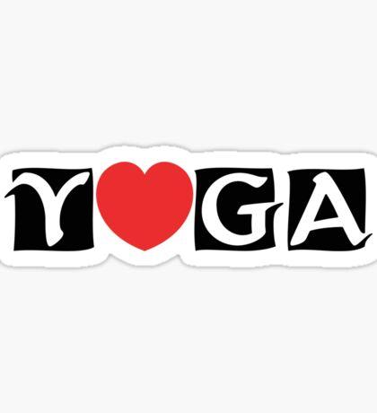 Love Yoga T-Shirt Sticker
