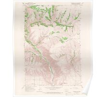 USGS Topo Map Washington State WA Goodnoe Hills 241358 1965 24000 Poster