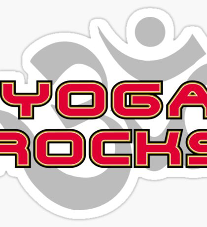 Yoga Rocks T-Shirt Sticker