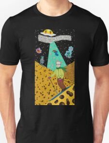Skiing on the Swiss Cheese Alps Unisex T-Shirt